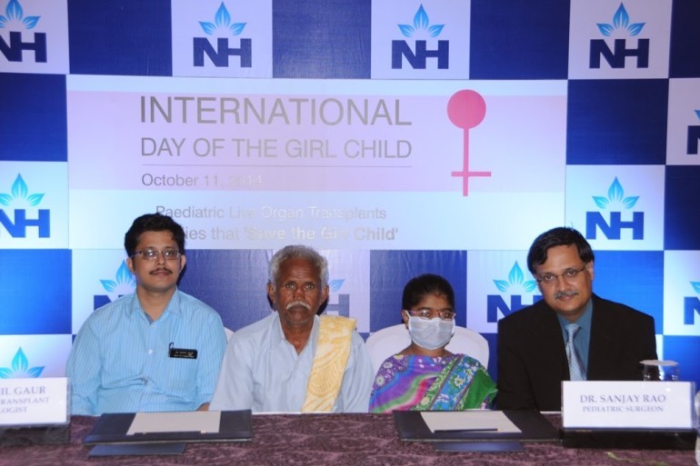 'International Day of Girl Child' celebration at NH by sharing 12-year-old girl Deepika, who underwent a kidney transplant.