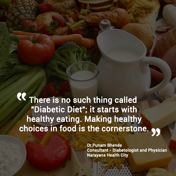 Diet for people with diabetes