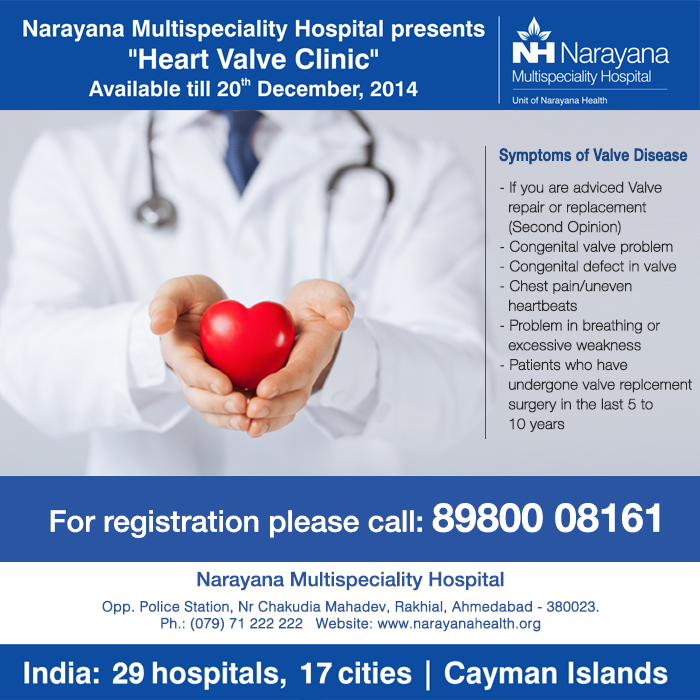 Heart Valve Clinic at Narayana Multispeciality Hospital, Ahmedabad