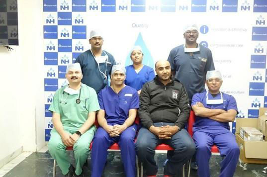 <h5><span>Police Officer from Muscat with Acute Heart Failure gets a Gift of Life at Narayana Health City</span></h5>