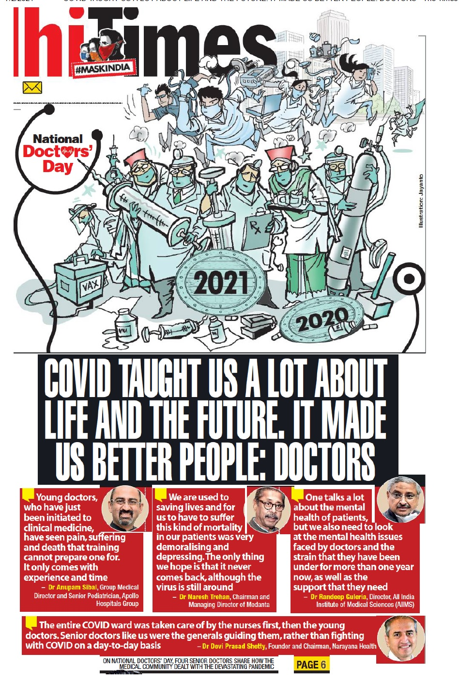 Covid taught us a lot about life and the future. It made us better people: Doctors