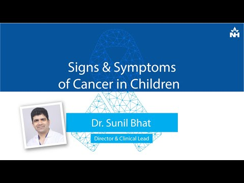 Signs & Symptoms of Cancer in Children | Dr. Sunil Bhat