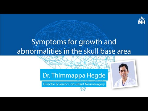 Symptoms for growth and abnormalities in the skull base area | Dr. Thimappa Hegde